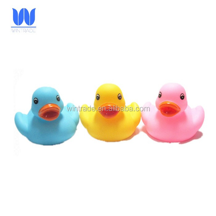 Factory supply floating vinyl plastic duck baby bath toy