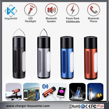 New arrival powerbank wireless bluetooth speaker with LED light, waterproof, SOS Warning function