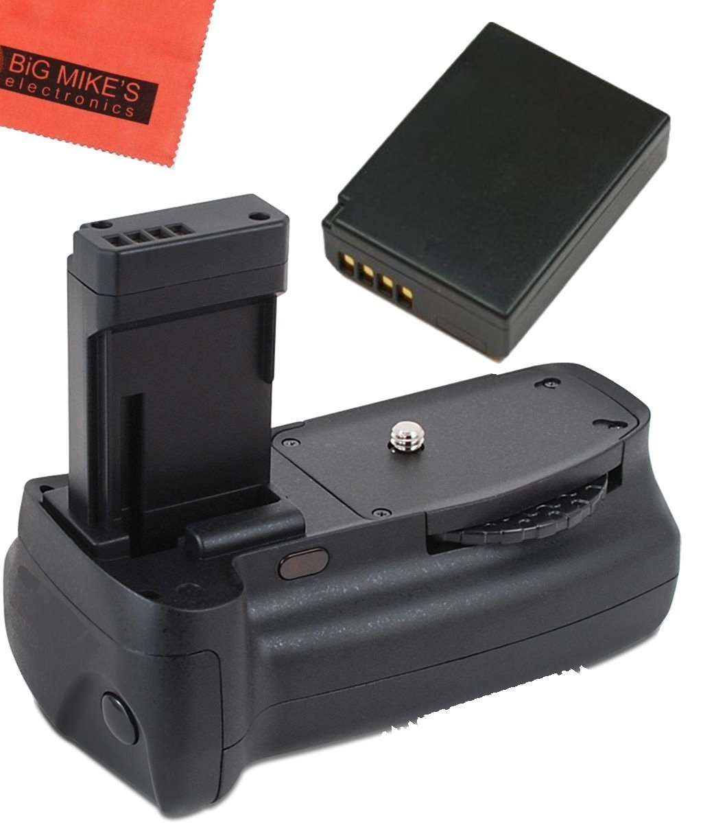 Battery Grip Kit for Canon EOS Rebel T3, T5, T6, Kiss X50, Kiss X70, EOS 1100D, EOS 1200D, EOS 1300D Digital SLR Camera Includes Qty 1 Replacement LP-E10 Battery + Vertical Battery Grip + More!!