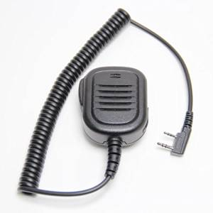 Buwico Waterproof Rainproof Heavy Duty 2-Pin Shoulder Remote Speaker Mic Microphone PTT For Kenwood Radio TK3173/TK3200/TK3202/TK3207/TK3230 etc 2pin