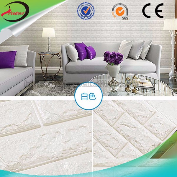 3d easy-cleaning foam brick panels foam wall protector new style 3d wallpaper wallpaper with crystals