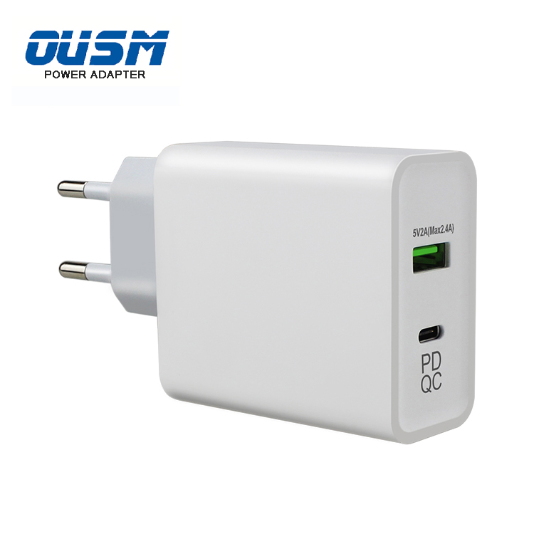 Wall Usb-c Power Adapter 45W Type C PD Charger with US EU AU UK Plug