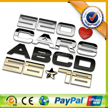 Custom 3D ABS chrome car logo badge emblem with 3M sticker