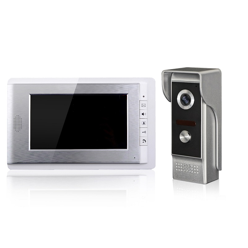 Wired video door phone one kit monitor and one kit camera for the home security system