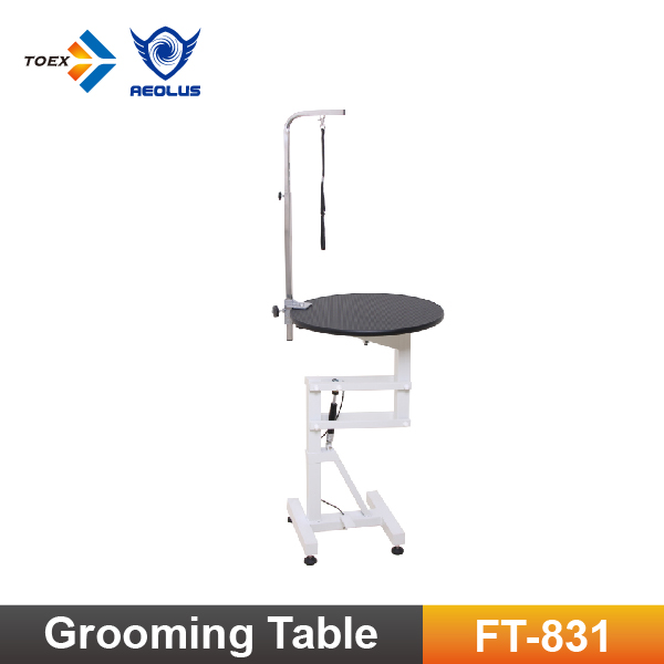 Ft831 Durable Pet Grooming Table Round Top Air Lifting Dog