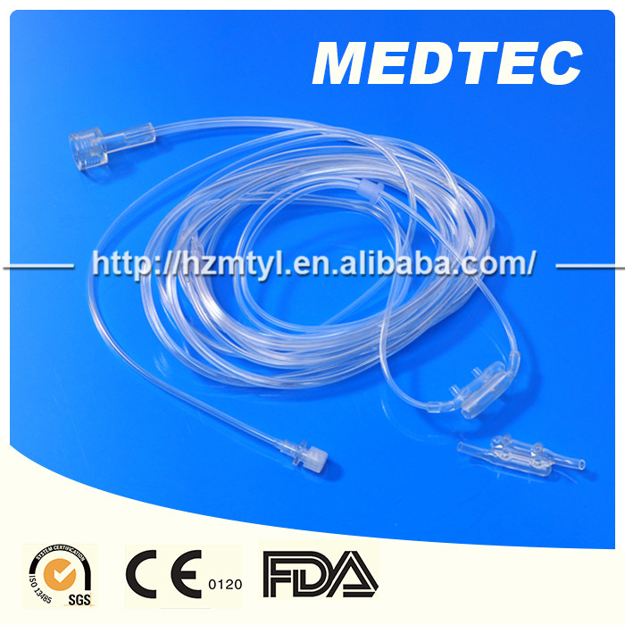 disposable double hole Soft Nasal Oxygen Cannula blunt OEM brand blunt tips with different sizes