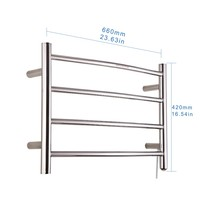 CE,UL/CUL, SAA, GS Approved Edeans Bathroom Accessories Electric towel warmer heated towel rail clothes drying rack