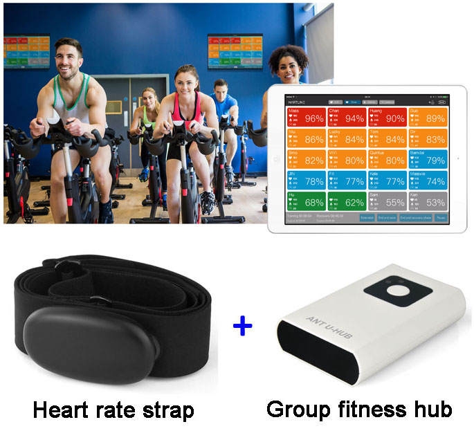 Most popular team fitness heart rate and cycling training system for GYM clubs