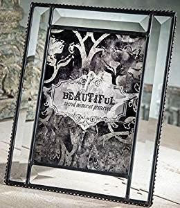 J Devlin Glass Art Pic 354-57HV Beveled Glass 5 x 7 Picture Frame Photo Wedding Frame Keepsake Tabletop