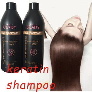 home use hair straightening keratin kit brazil keratin shampoo