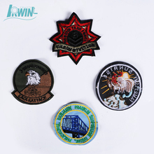 Cheap stock badge Embroidery Design Custom Embroidered Patches for jeans