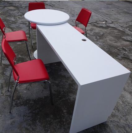 da pranzo tavolo/acrilico tavolo da cucina/bianco tavolo alto-Tavolo ...