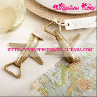 "High Quality ""Let the Adventure Begin"" Antique Airplane Bottle Opener New Wedding Gift Favors"