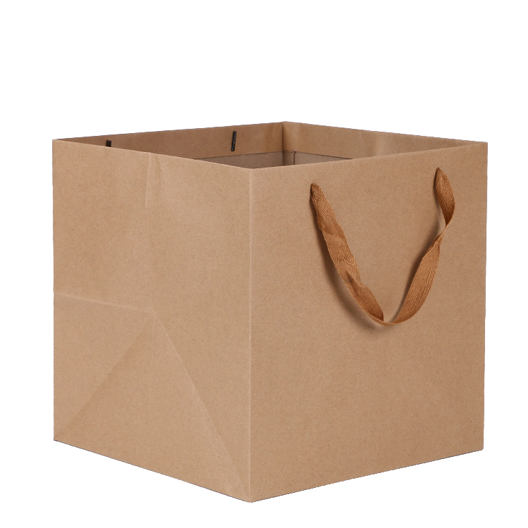 2020 Hot sale custom design brown kraft paper shopping bag wholesale custom logo printed kraft paper bag