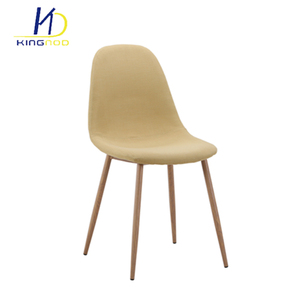 Restaurant Home Furniture Fabric Covered Dining Chair With Metal Legs