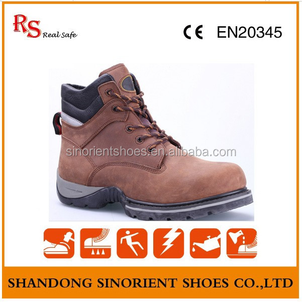 crazy house leather steel toe safety shoes men dewalt safety shoes factory wholesale shoes led shoes SNB152