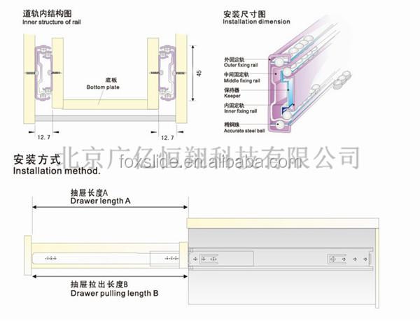 800mm Heavy Duty 225kg Locking Drawer Draw Slides Glide Rails