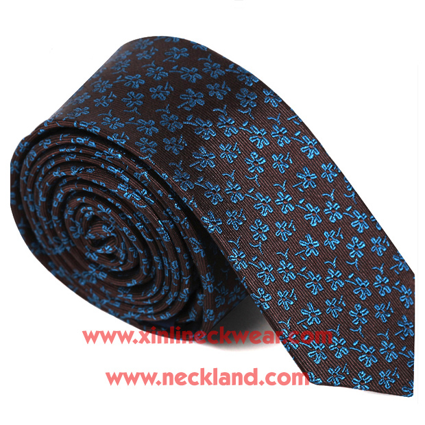 Handmade Silk Jacquard Wove Floral Skinny Tie <strong>Manufacturing</strong> Business