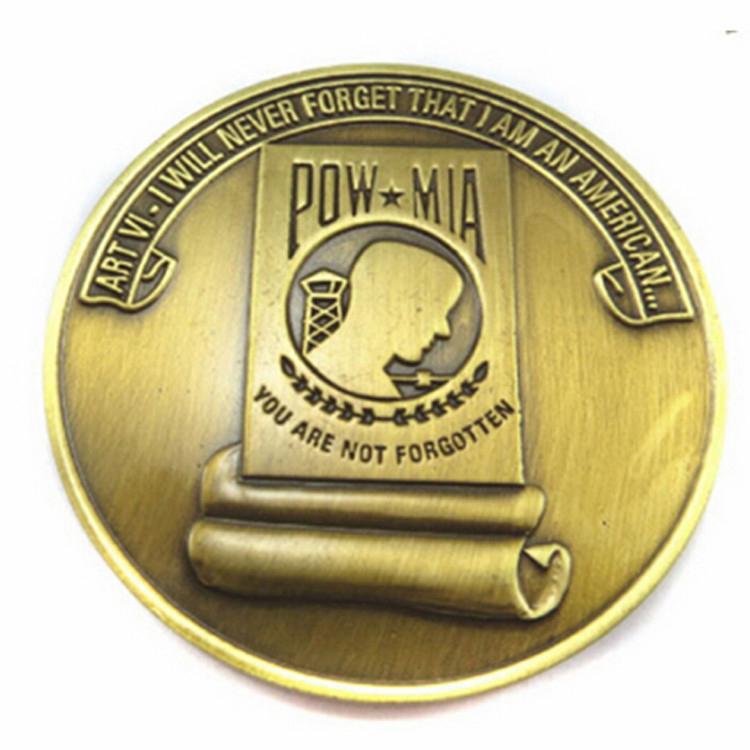 Esmalte macio de Metal Logotipo Personalizado Cobre Antigo Fabricante de Moeda Personalizado
