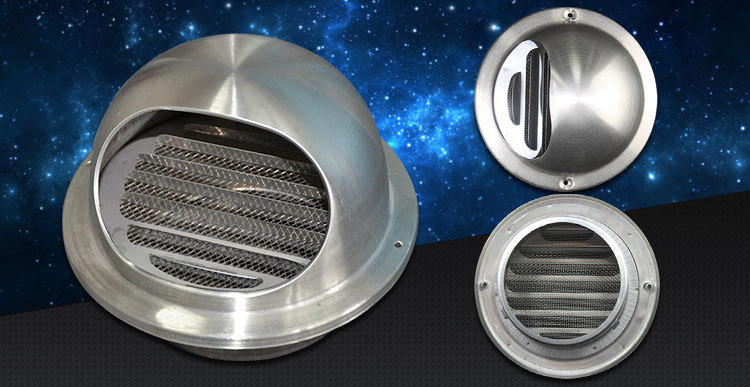 Hvac Stainless Steel Air Conditioning Round Air