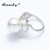 Newest Arrival Freshwater Pearl Ring, Custom Jewelry Fashion Wedding Ring engagement ring