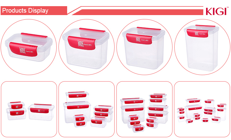 High Quality Plastic Stackable Bento Lunch box Round Flat