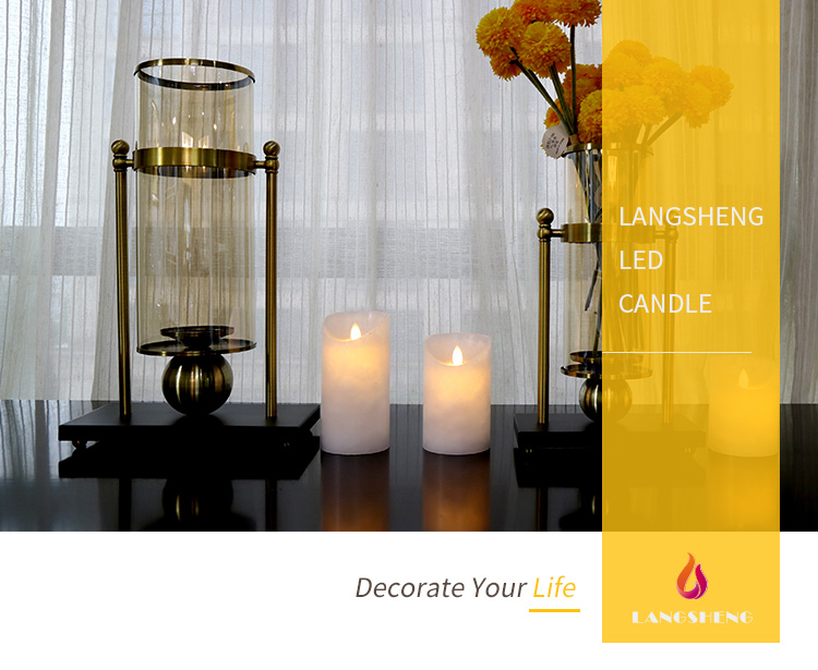 Wholesale flameless led paraffin wax candle light flickering electric led candles with remote control