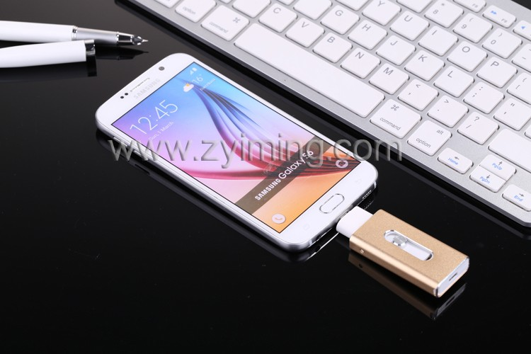 Zyiming usb stick factory wholesale 4GB/ 8/16/32/64/128gb otg usb flash drive for iphone