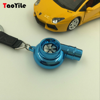 3D Car Parts Turbocharger Metal Key chain Turbo Whistle Keychain