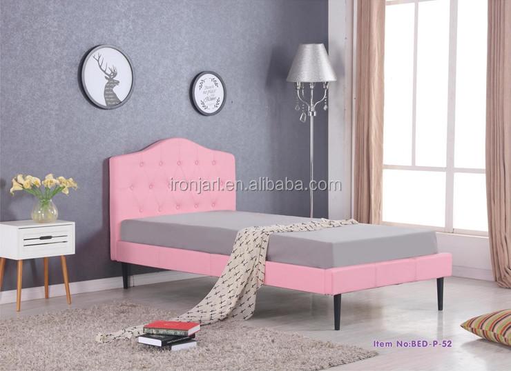 Filles Rose Pu Cuir Lit Simple Pour Enfants Chambre Y - Buy Lit En Cuir De  Style Fille,Chambre D\'enfants De Filles,Lit D\'enfants Product on ...