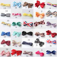 Wholesale handmade kids children baby Boutique ribbon hair bows