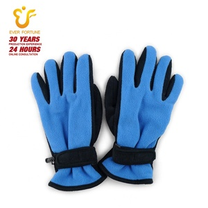 High Quality Warm Winter Double Layer Gloves Black Spell Yellow Polar Fleece Mittens