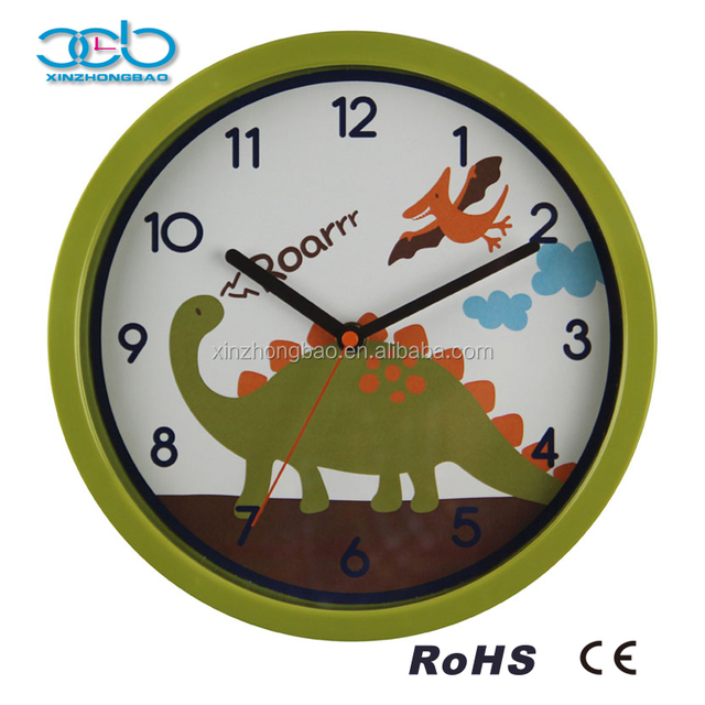 Cartoon Dinosaurs Time Wall Clock