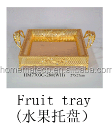 2017 new fruit dish food fruit platter for party home wedding restaurant using good quality metal crafts
