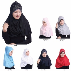 2017 Newest Middle East Popular Style Viscose Hijab Middle East Women Glisten Scarf