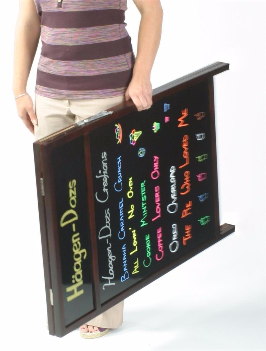 Schreiben-auf Bürgersteig Zeichen Menü Bord Zwei-seitige Display ...