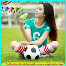Factory Low Price Sports Football Plastic Toy Rechargeable Mini Sport Whistle Mini fan
