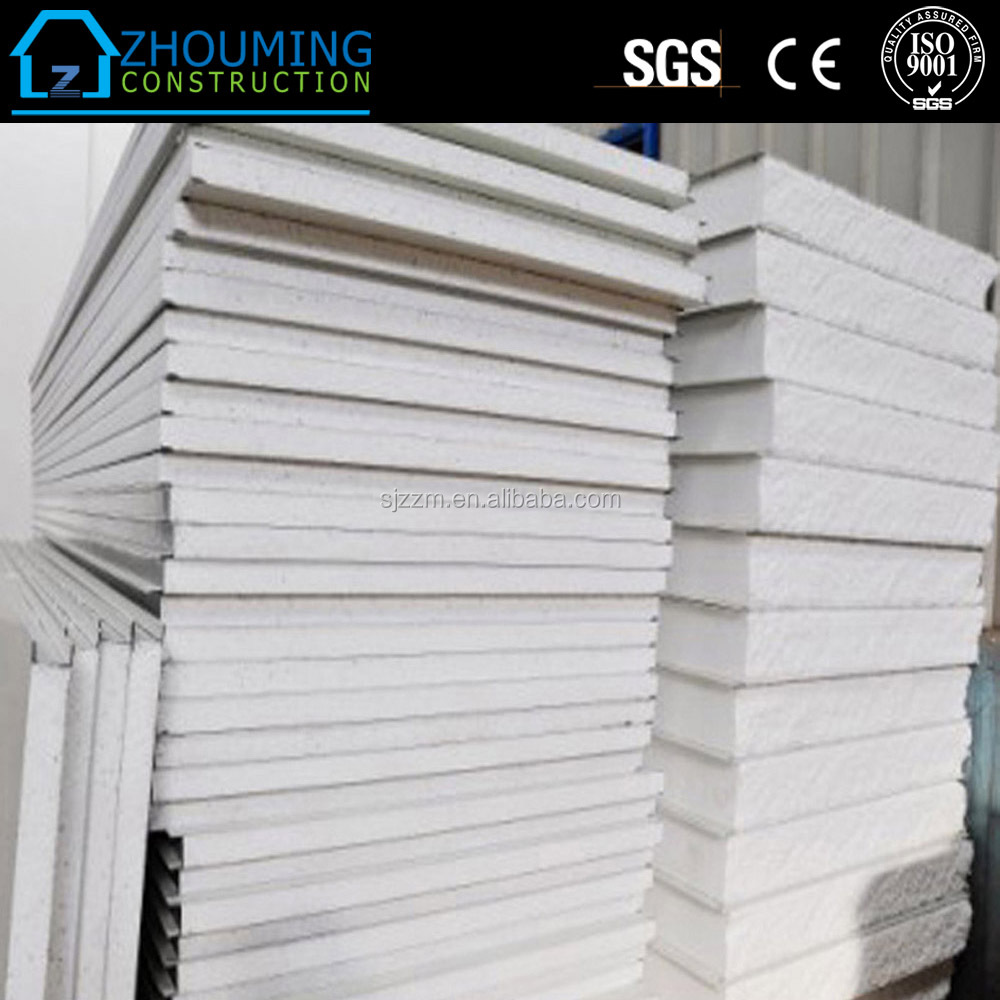 Water resistant fire rated heat insulated Fiber cement eps sandwich