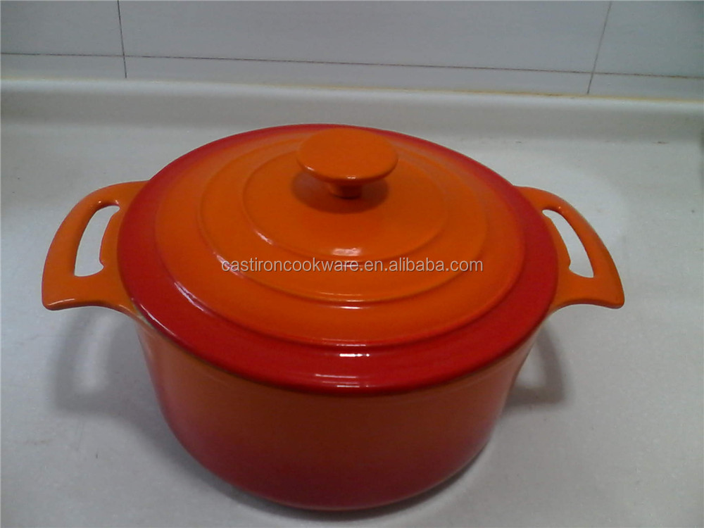 2015 Hot Sale Yellow Round Non Stick Parini Cookware Cast