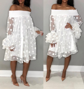China Oem Clothing Factory Women Plus Size Off Shoulder White ...