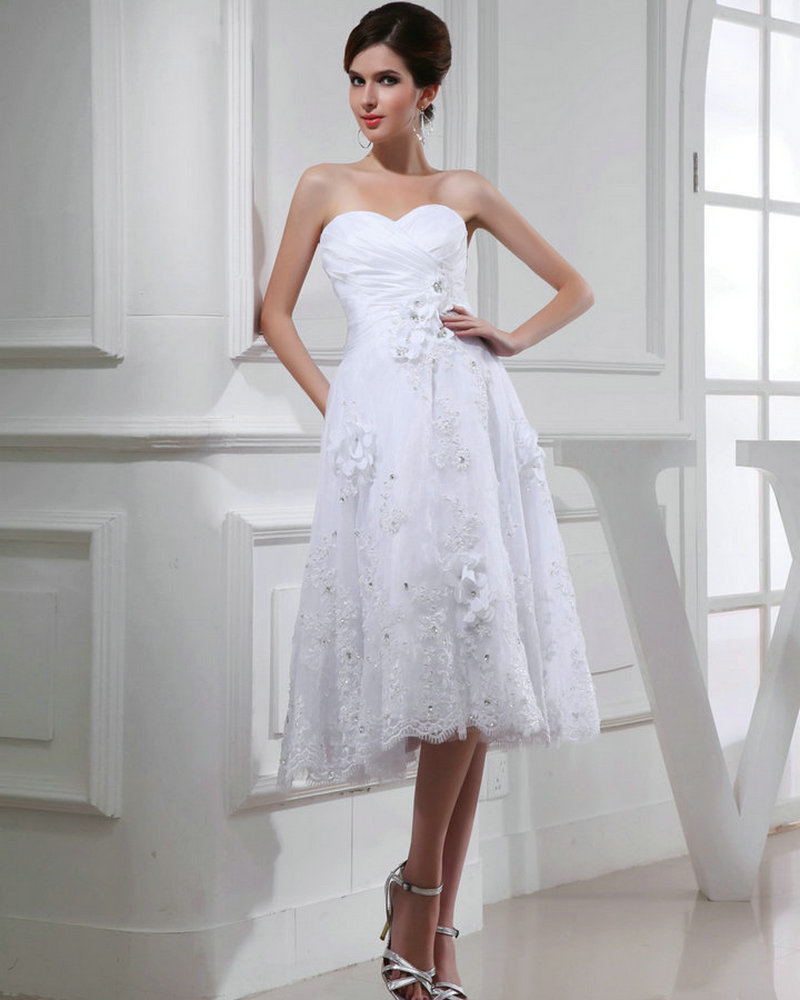 REAL MODEL White Organza Buttons Applique Lace Wedding