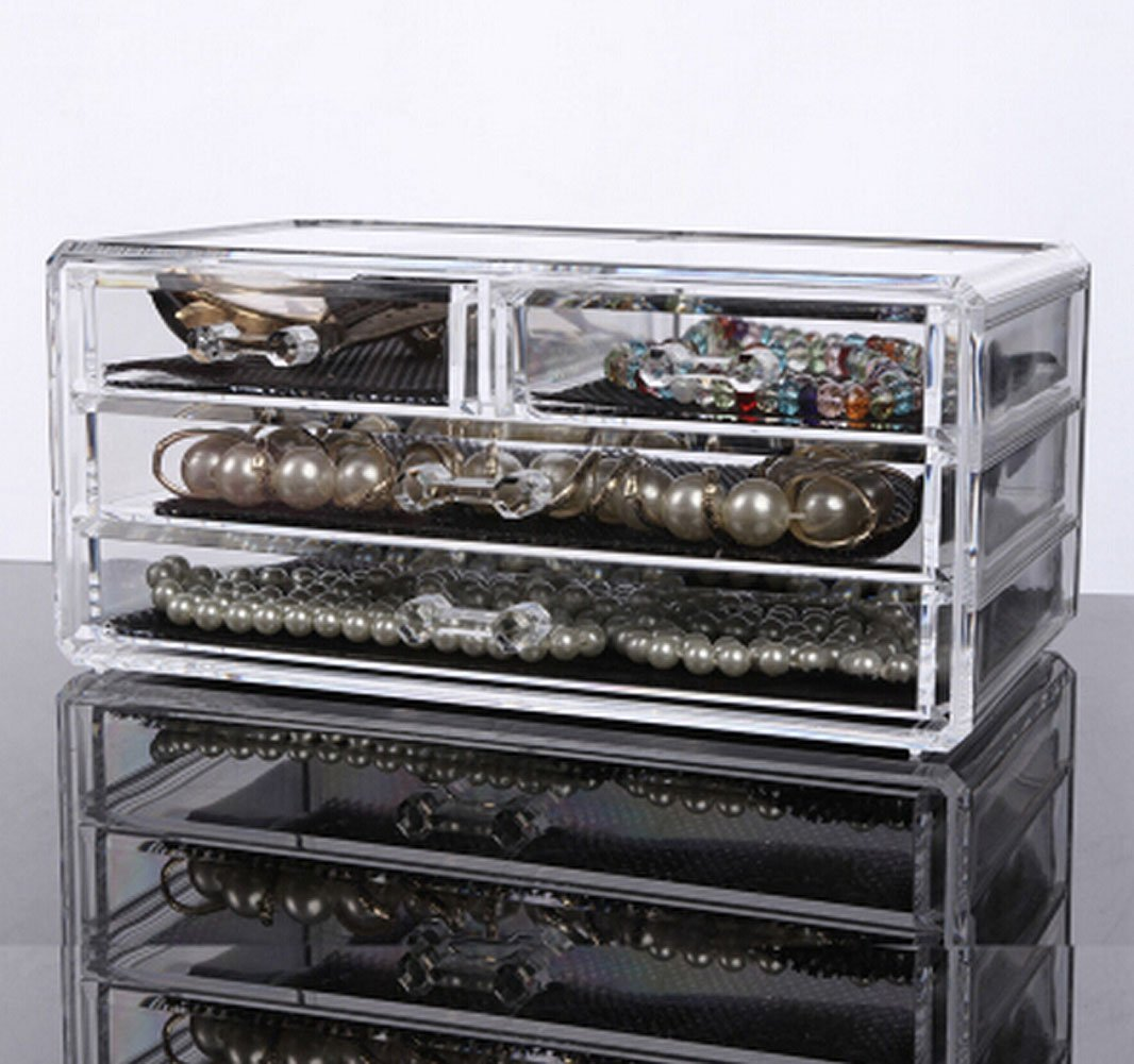 Sixsop Makeup Organizer / Cosmetic Display Box / Jewelry Makeup Brush / Eyebrow Pencil / Lipstick Holder / Skin Care Storage Box / Desktop Finishing Storage Box