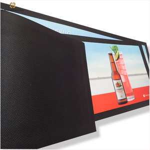 Sale Personalized Back neoprene bar mats with logos Flat Barmat
