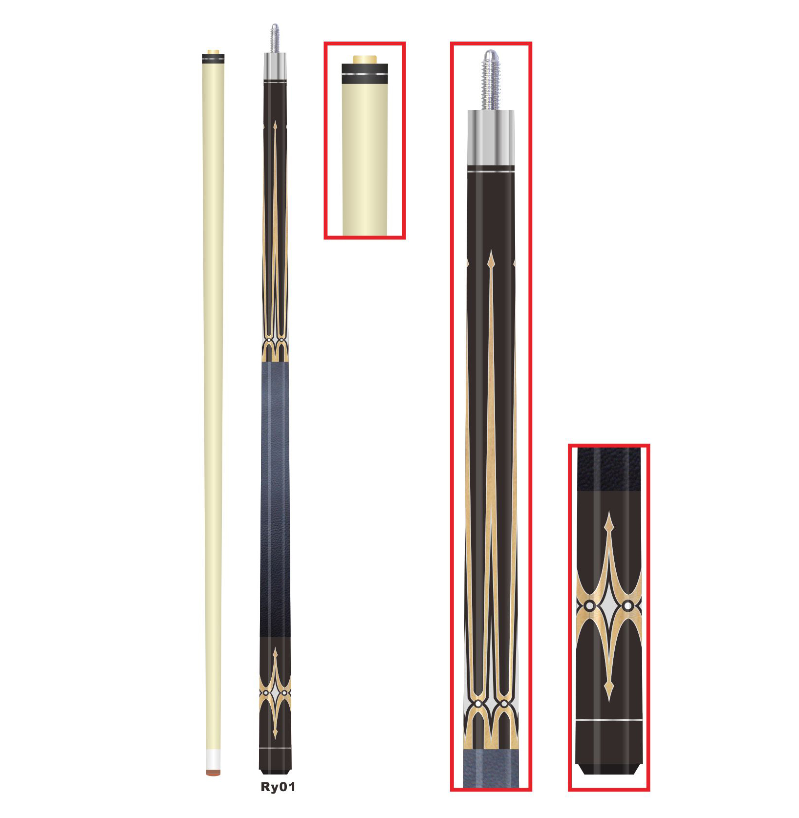 Billiard accessories for snooker cue, cue extension butt