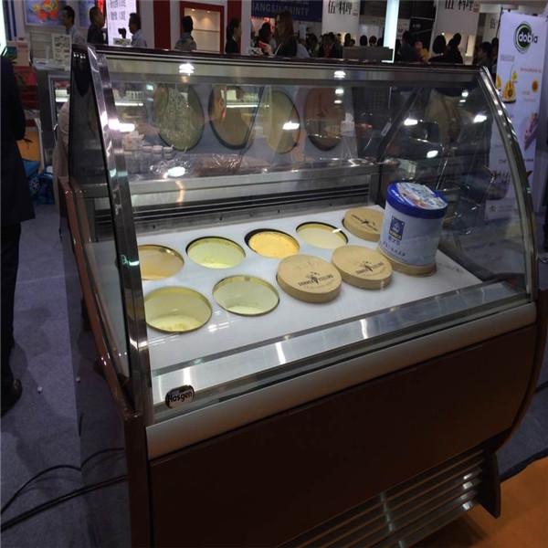 Good Display Effect Gelato Showcase Ice Cream Display