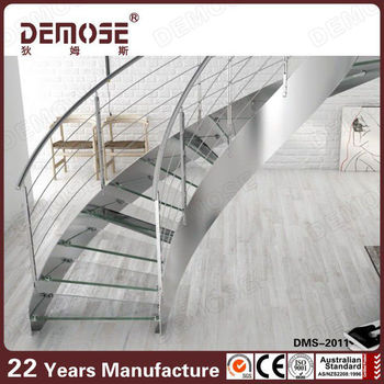 Staircase Railing Tempered Glass For Stainless Steel 304 316
