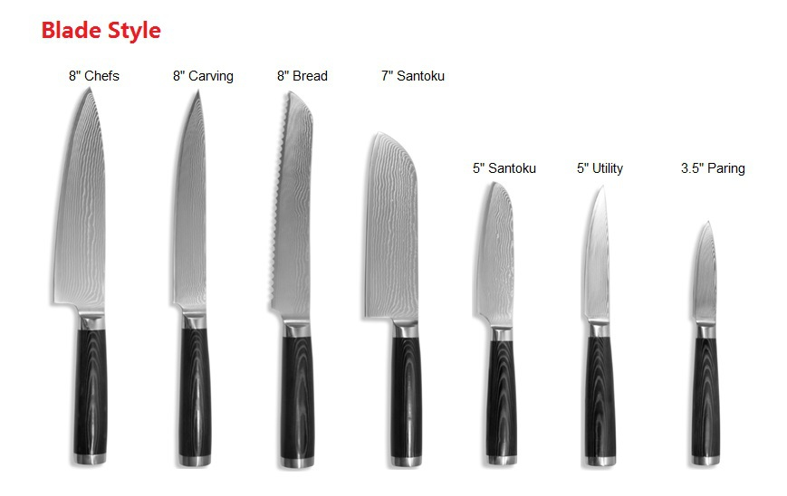 professional kitchen knives : mlrx