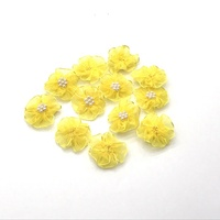 Colorful organza poppy layered flowers fabric handmade flowers with sparkling pearl rhinestone for garment accessories