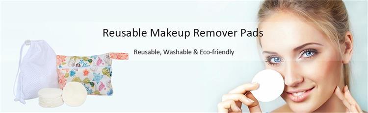 बांस प्राकृतिक मेकअप पदच्युत त्वचा दौर शीतल पुन: प्रयोज्य चेहरे की सफाई राउंड पैड