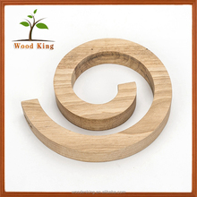 Creative Household Items Custom Logo Natural Wood Grain Rubber Wooden Placemats